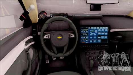 Chevrolet Caprice 2013 Los Santos PD v3 для GTA San Andreas вид изнутри