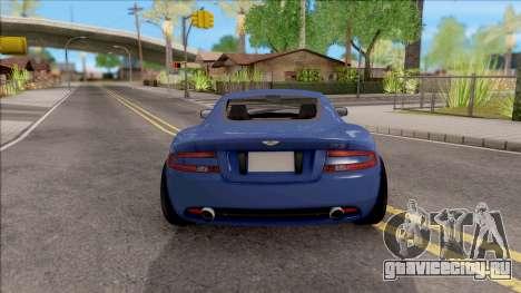Aston Martin DB9 Drift Style - Drift Handling для GTA San Andreas вид сзади слева