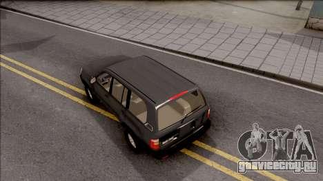 Toyota Land Cruiser 2005 для GTA San Andreas вид сзади