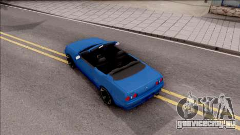 Nissan Skyline R32 Cabrio для GTA San Andreas вид сзади