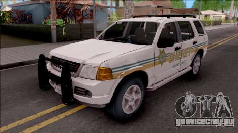 Ford Explorer 2002 Boone County Sheriff Office для GTA San Andreas