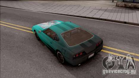 Miku Hatsune Jester Car для GTA San Andreas вид сзади