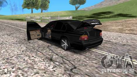 BMW E39 Armenian Vossen для GTA San Andreas вид сзади
