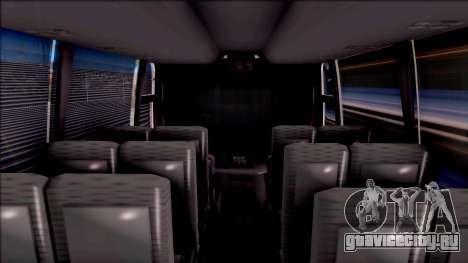 Volvo 9700 Coordinados Bus Mexico для GTA San Andreas вид изнутри