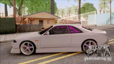 Nissan Skyline R33 Drift Monster Energy для GTA San Andreas вид слева