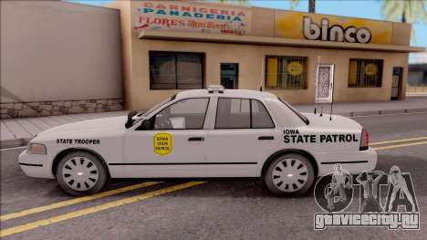 Ford Crown Victoria 2009 Iowa State Patrol для GTA San Andreas вид слева