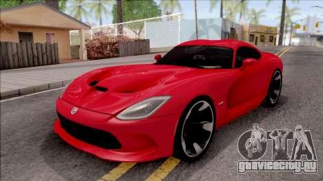 Dodge SRT Viper GTS 2012 для GTA San Andreas
