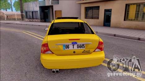 Ford Focus Mk1 Turkish Taxi для GTA San Andreas вид сзади слева