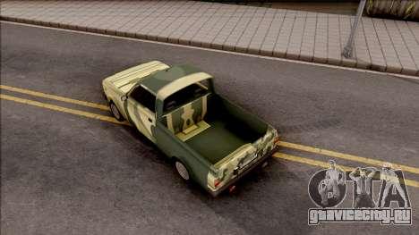 Zastava Poly 1.1 Vojni Auto для GTA San Andreas вид сзади