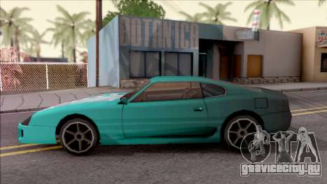 Miku Hatsune Jester Car для GTA San Andreas вид слева