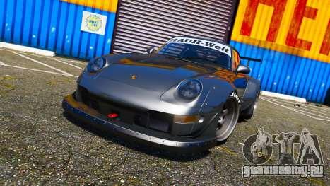 Porsche 911 (993) GT-2 1992 RWB для GTA 5 вид сзади слева