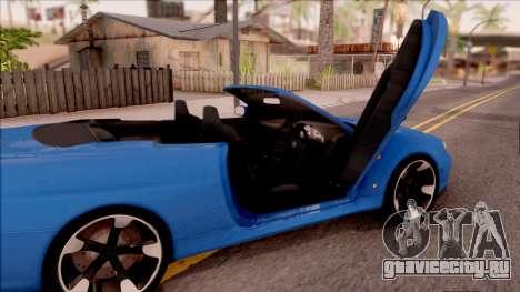 Nissan Skyline R34 Cabrio для GTA San Andreas вид изнутри