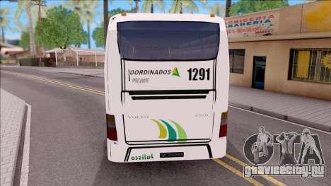 Volvo 9700 Coordinados Bus Mexico для GTA San Andreas вид сзади слева