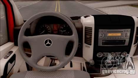 Mercedes-Benz Sprinter Abschleppwagen для GTA San Andreas вид изнутри
