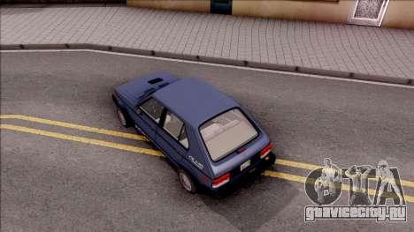 Dodge Shelby Omni GLHS 1986 для GTA San Andreas вид сзади