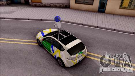 Subaru Impreza Google Street View Car для GTA San Andreas вид сзади