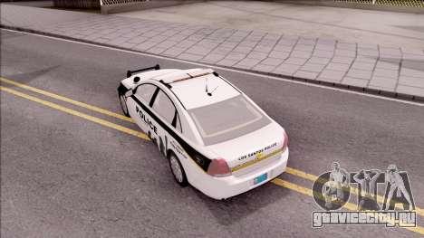 Chevrolet Caprice 2013 Los Santos PD v3 для GTA San Andreas вид сзади