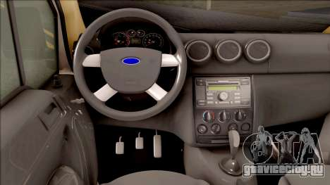 Ford Tourneo Connect 90PS Turkish Police для GTA San Andreas вид изнутри