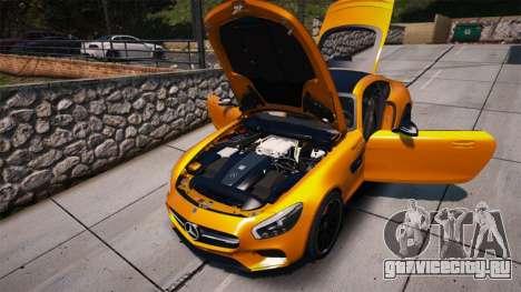Mercedes-Benz AMG GT S 2016 для GTA 5 вид сзади