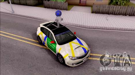 Subaru Impreza Google Street View Car для GTA San Andreas вид справа