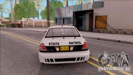 Ford Crown Victoria 2009 Iowa State Patrol для GTA San Andreas вид сзади слева