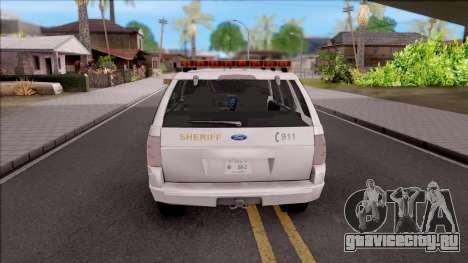 Ford Explorer 2002 Boone County Sheriff Office для GTA San Andreas вид сзади слева