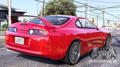 Toyota Supra 1994 для GTA 5 вид слева