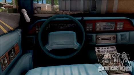 Chevrolet Caprice Police LSPD для GTA San Andreas вид изнутри
