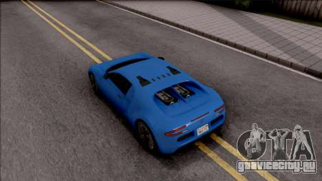 Truffade Adder для GTA San Andreas вид сзади