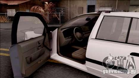 Ford Crown Victoria 2009 Des Moines PD для GTA San Andreas вид изнутри