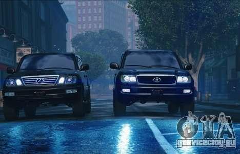 Toyota Land Cruiser 100 для GTA 5 вид сзади слева