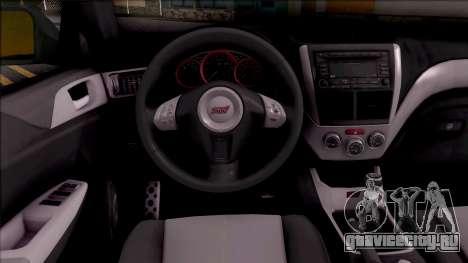 Subaru Impreza Google Street View Car для GTA San Andreas вид изнутри
