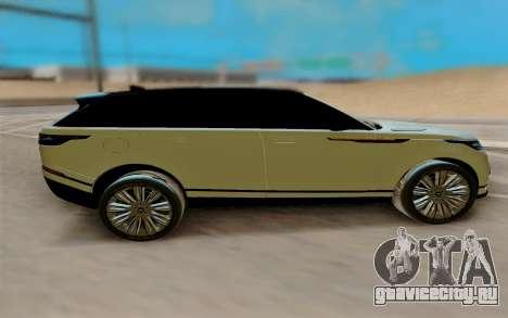 Range Rover Velar 2017 для GTA San Andreas вид слева
