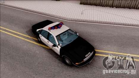 Chevrolet Caprice Police LSPD для GTA San Andreas вид справа