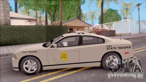Dodge Charger 2012 Iowa State Patrol для GTA San Andreas вид слева
