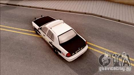 Ford Crown Victoria 2007 West Des Moines PD для GTA San Andreas вид сзади