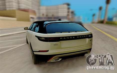 Range Rover Velar 2017 для GTA San Andreas вид сзади слева