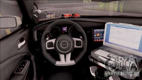 Dodge Charger 2012 Iowa State Patrol для GTA San Andreas вид изнутри