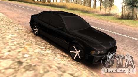 BMW E39 Armenian Vossen для GTA San Andreas вид сзади слева