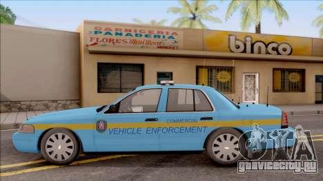 Ford Crown Victoria 2010 Iowa DOT MVE для GTA San Andreas вид слева
