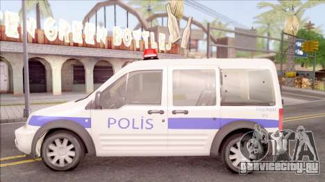 Ford Tourneo Connect 90PS Turkish Police для GTA San Andreas вид слева