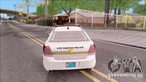 Chevrolet Caprice 2013 Los Santos PD v3 для GTA San Andreas вид сзади слева