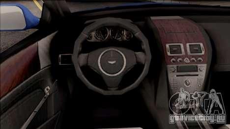 Aston Martin DB9 Drift Style - Drift Handling для GTA San Andreas вид изнутри