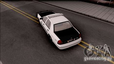 Ford Crown Victoria 2009 Des Moines PD для GTA San Andreas вид сзади