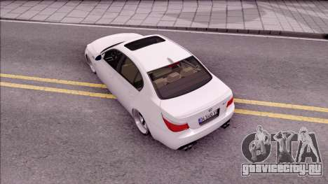 BMW M5 E60 SUDKİNG для GTA San Andreas вид сзади