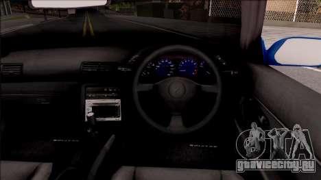 Nissan Skyline R32 Cabrio для GTA San Andreas вид изнутри