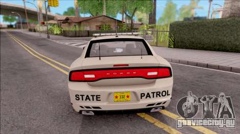 Dodge Charger 2012 Iowa State Patrol для GTA San Andreas вид сзади слева