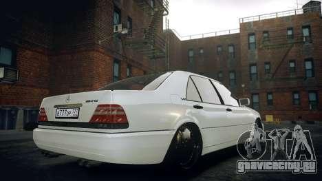 Mercedes-Benz S600 W140 для GTA 4 вид слева