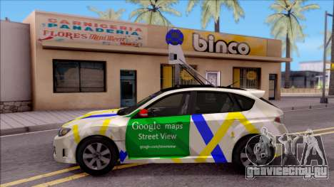 Subaru Impreza Google Street View Car для GTA San Andreas вид слева