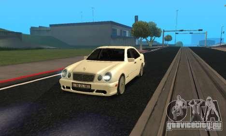 Mercedes-Benz E420 Armenian для GTA San Andreas вид справа